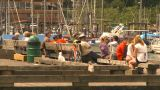 HD2009-6-31-45 Granville Island People On Dock stock footage
