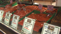 HD2009-6-32-2 meat sausage cuts lots Stock Video Footage