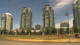 HD2009-6-32-15 condos and skytrain Stock Video Footage
