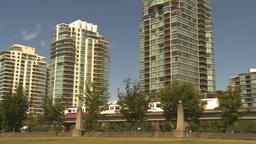 HD2009-6-32-19 condos and skytrain Stock Video Footage