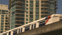 HD2009-6-32-21 condos and skytrain generic Stock Video Footage