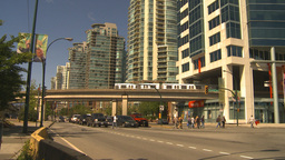 HD2009-6-32-25 traffic skytrain and condos Footage