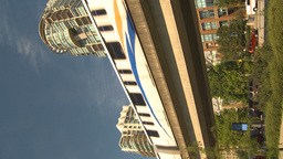 HD2009-6-32-32 skytrain and condo VERTICAL Stock Video Footage