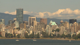 HD2009-6-32-34 vancouver skyline Footage