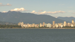 HD2009-6-32-36 vancouver skyline pan Stock Video Footage