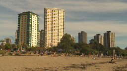 HD2009-6-32-46 condos and beach Stock Video Footage