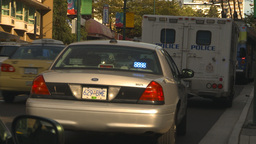 HD2009-6-33-2 police cars and cops 2shot Footage