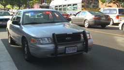 HD2009-6-33-4 unmarked police cars 2shot Footage