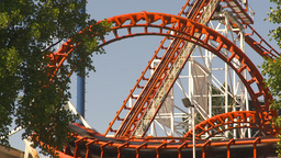 HD2009-6-33-8 loop rollercoaster Footage