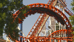 HD2009-6-33-8 loop rollercoaster Stock Video Footage