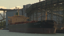 HD2009-6-33-14 cargo ship in port Stock Video Footage