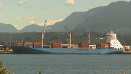 HD2009-6-33-18 cargo ships in port Stock Video Footage
