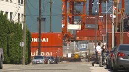 HD2009-6-33-22 intermodal train and shipyard Stock Video Footage