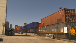 HD2009-6-33-24 intermodal train and skyline Stock Video Footage