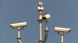 HD2009-6-33-26b security cameras Stock Video Footage