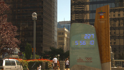 HD2009-6-33-28 olympic clock Stock Video Footage
