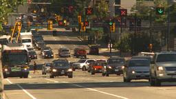HD2009-6-34-1 heavy traffic on west Georgia Stock Video Footage