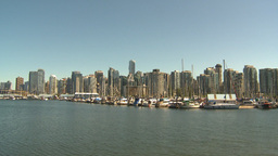 HD2009-6-34-3 boats and skyline Stock Video Footage