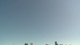 HD2009-6-34-5 tilt down reveal skyline Stock Video Footage