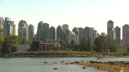 HD2009-6-34-9 skyline and HMCS Disc Stock Video Footage