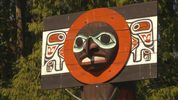 HD2009-6-34-13 totem poles montage Stock Video Footage