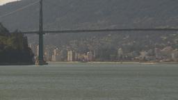 HD2009-6-34-19 lions gate bridge Z Stock Video Footage