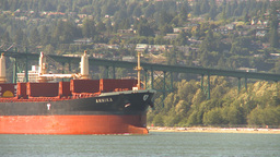HD2009-6-34-21 cargo ship incoming Stock Video Footage