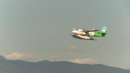 HD2009-6-34-25 float plane twin otter Z Stock Video Footage