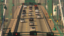 HD2009-6-34-29 lions gate bridge traffic Stock Video Footage