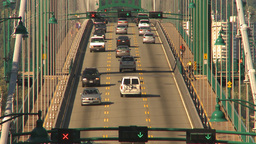 HD2009-6-34-29 lions gate bridge traffic Footage