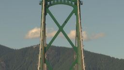 HD2009-6-34-31b lions gate bridge traffic tilt down Footage