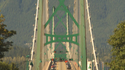 HD2009-6-34-31b lions gate bridge traffic tilt down Stock Video Footage