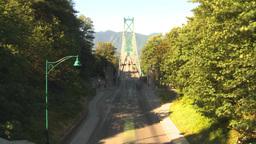 HD2009-6-34-33 lions gate bridge traffic TL Stock Video Footage
