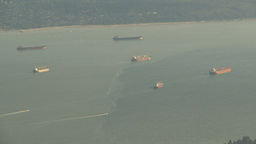 HD2009-6-34-37 Burrard inlet ships Z Footage
