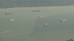 HD2009-6-34-37 Burrard inlet ships Z Stock Video Footage