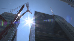 HD2009-6-36RC-7 mammoet crane and building Stock Video Footage