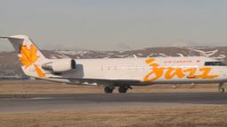 HD2009-3-1-10 Jazz RJ jet taxi Stock Video Footage