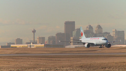 HD2009-3-1-14 Airbus taxi city in bg Stock Video Footage