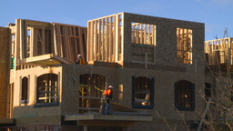 HD2009-3-2-2 condo construction workers Stock Video Footage