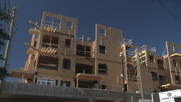 HD2009-3-2-4 condo construction workers Stock Video Footage