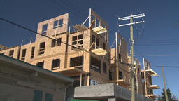 HD2009-3-2-6 condo construction workers Footage