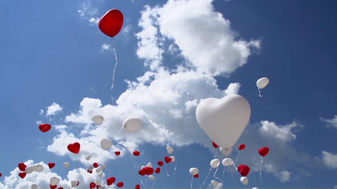 Balloons in the Sky Footage