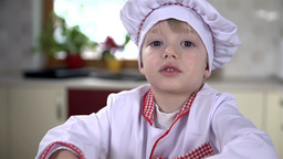 Young Cook Working Hard stock footage