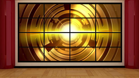 News TV Studio Set 17 Virtual Green Screen Backgro stock footage