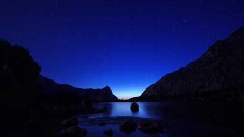 Day follows night, Kulikolon lakes. Tajikistan. Ti Footage