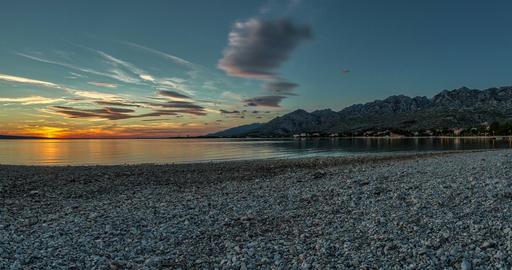 4K Timelapse Of Sunset In Croatia stock footage