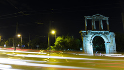 4K Timelapse Arch Of Hadrian Motion Control Pan stock footage