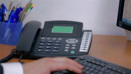 Close Up Phone Rings And Picking Up stock footage