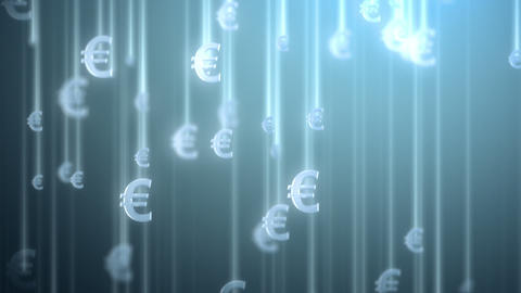money rain background, euro Animation