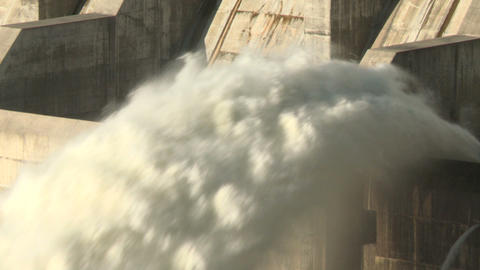 Hydro Electric Dam Spillway 02 stock footage